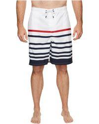 Polo Ralph Lauren - Big Tall Cotton Nylon Kailua Trunk (white Nautical Stripe) Men's Swimwear - Lyst