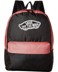 1b86edfd8e6 Vans - Realm Backpack (black Desert Rose) Backpack Bags - Lyst