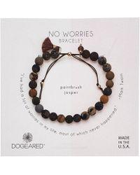 Dogeared - No Worries Bracelet, Jasper Bead Stone Bracelet With Nylon Pull Cord (gold Dipped) Bracelet - Lyst