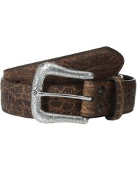 Ariat - Western Basic Belt (chocolate Elephant Perforated Edge) Men's Belts - Lyst