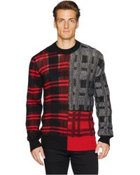 McQ - Patchwork Check Sweater - Lyst