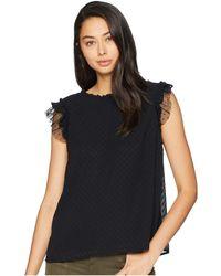 Kensie - Circle Swiss Dot Top Ks9k4736 (sapphire) Women's Short Sleeve Pullover - Lyst
