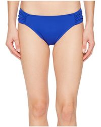 Lauren by Ralph Lauren - Beach Club Solids Shirred Side Tab Hipster Bottom - Lyst