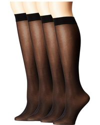 Hue - Opaque Knee High 4-pair Pack - Lyst