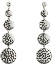 John Hardy - Dot Moon Phase Hammered Drop Earrings (hammered Silver) Earring - Lyst