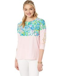 Lilly Pulitzer - Finn Top (multi Feline Good) Women's Clothing - Lyst