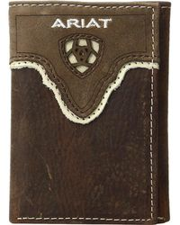 Ariat - Shield Cut Out Overlay Trifold Wallet - Lyst