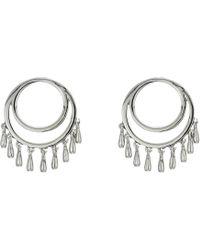 Rebecca Minkoff - Front Facing Teardrop Circle Studs Earrings (silver) Earring - Lyst