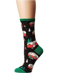 Socksmith - Christmas Campers (blue Heather) Women's Crew Cut Socks Shoes - Lyst