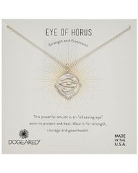 Dogeared - Eye Of Horus Coin Necklace (silver) Necklace - Lyst