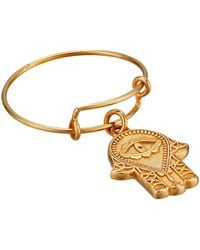 ALEX AND ANI - Precious Expandable Wire Ring (gold Hand Of Fatima) Ring - Lyst