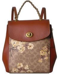 COACH - Prairie Coated Canvas Signature Parker Backpack - Lyst