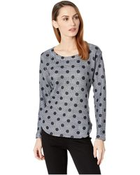 Nally & Millie - Houndstooth Polkadot Print Top (multi) Women's Clothing - Lyst