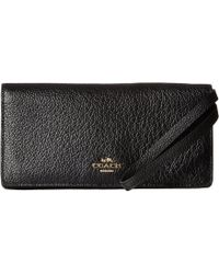 df6b8cee681e COACH - Pebbled Leather Slim Wallet (li black) Wallet - Lyst