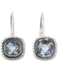 The Sak - Cushion Stone Leverback Earrings (blue/silver) Earring - Lyst