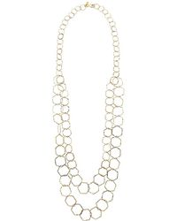 Kenneth Jay Lane - 2 Row Polished Gold Geometric S Hook Necklace (polished Gold) Necklace - Lyst