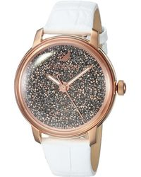 Swarovski - Crystalline Hours Watch (white) Watches - Lyst