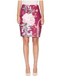 Ted Baker - Serenity Wrap Pencil Skirt (maroon) Women's Skirt - Lyst