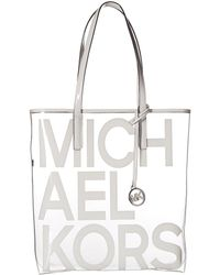 MICHAEL Michael Kors - The Michael Large North south Logo Tote Bag - Lyst 1abc2f66a2