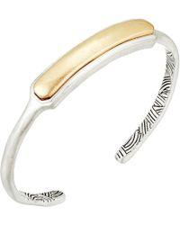 The Sak - Small Metal Inlay Cuff Bracelet - Lyst