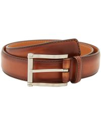 Magnanni - Carbon Cognac Belt (cognac) Men's Belts - Lyst