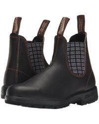 Blundstone - Bl1463 (stout Brown/navy Tartan) Work Boots - Lyst