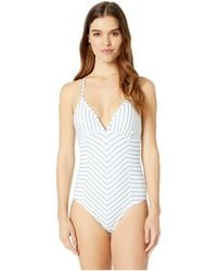 Splendid - Stormy Story Removeable Soft Cup One-piece (stormy Blue) Women's Swimsuits One Piece - Lyst