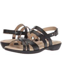 Hush Puppies - Dachshund Strappy (black Leather) Women's Sandals - Lyst