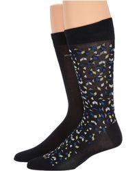 BOSS Two-pack Of Socks In A Mercerized-cotton Blend - Blue