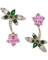 Betsey Johnson - Cz Dragonfly Non-matching Earrings (pink) Earring - Lyst