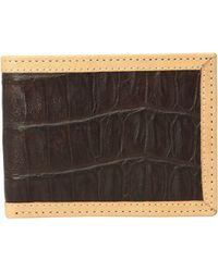 Ariat - Croc Print Bifold Wallet (brown) Wallet Handbags - Lyst