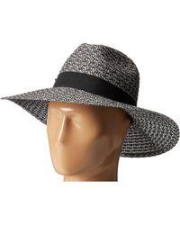 San Diego Hat Company - Ubl6493 Four Buttons Ultrabraid Fedora Hat (black/mix) Fedora Hats - Lyst