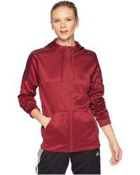 adidas - Team Issue Full Zip Hoodie (black/black) Women's Sweatshirt - Lyst