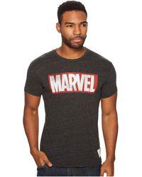 The Original Retro Brand - Marvel Short Sleeve Tri-blend Tee (streaky Black) Men's T Shirt - Lyst