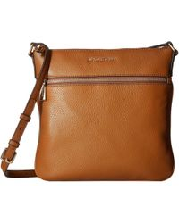 MICHAEL Michael Kors - Bedford Flat Crossbody (acorn) Cross Body Handbags - Lyst