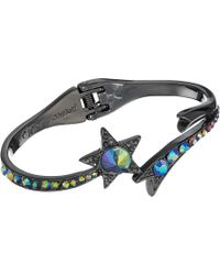 Betsey Johnson - Shooting Star Hinged Bangle Bracelet (black) Bracelet - Lyst
