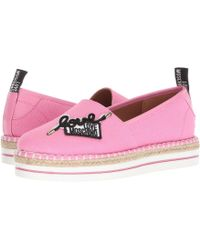 Love Moschino - Canvas Espadrille (pink) Women's Shoes - Lyst