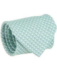 Vineyard Vines - Vineyard Whale Silk Tie (green Gecko) Ties - Lyst