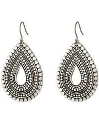 Lucky Brand - Blue Moon Tear Drop Earrings - Lyst