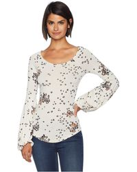 Free People - To The Tropics Print Top (ivory) Women's Clothing - Lyst