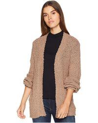 Volcom - Knitastic Cardigan (oxford Tan) Women's Sweater - Lyst