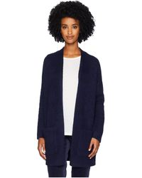 Eileen Fisher - Organic Cotton Fluff Long Cardigan (midnight) Women's Sweater - Lyst