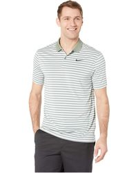 c97ba4fe Nike - Dri-fittm Mini-stripe Victory Polo (black/anthracite/flat