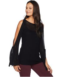 Kensie - Textured Viscose Sweater Ks8k5635 (black) Women's Sweater - Lyst