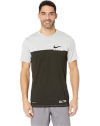 a024b36118ec Lyst - Nike Dry Breathe Elite Basketball T-shirt in Black for Men