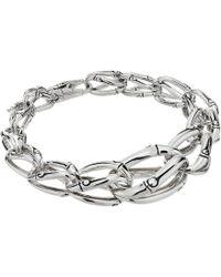 John Hardy - Bamboo 17mm Graduated Link Bracelet (silver) Bracelet - Lyst