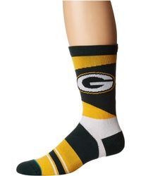 Stance - Packers Retro (green) Men's Crew Cut Socks Shoes - Lyst