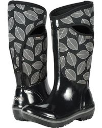 Bogs - Plimsoll Leafy Tall (black Multi) Women's Boots - Lyst