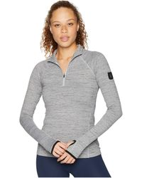 Spyder - Unyte Zip T-neck (black/black) Women's Long Sleeve Pullover - Lyst
