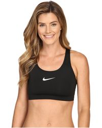Nike - Pro Classic Swooshtm Sports Bra (carbon Heather/anthracite/black) Women's Bra - Lyst